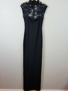 NOOKIE-Womens-Black-Bodycon-Dress-Size-M-or-AU-8-10-or-US-4-6