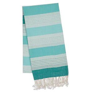 Design-Imports-Aqua-Stripe-Fouta-Towel-Throw-28991