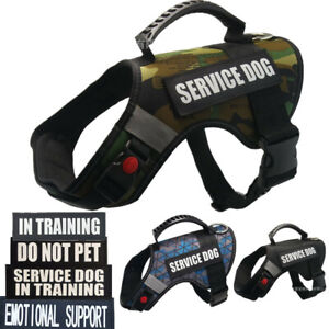 Reflective-Dog-Vest-Harness-W-2PCS-Patches-SERVICE-DOG-IN-TRAINING-EMOTIONAL