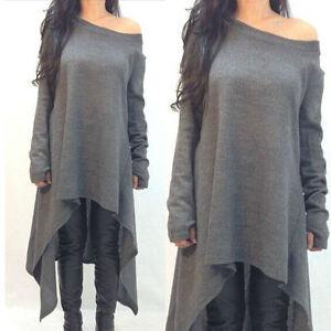 plus size fashion women casual off shoulder autmn winter. Black Bedroom Furniture Sets. Home Design Ideas