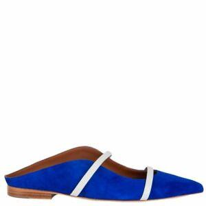 blue suede MAUREEN Ballet Flats Shoes