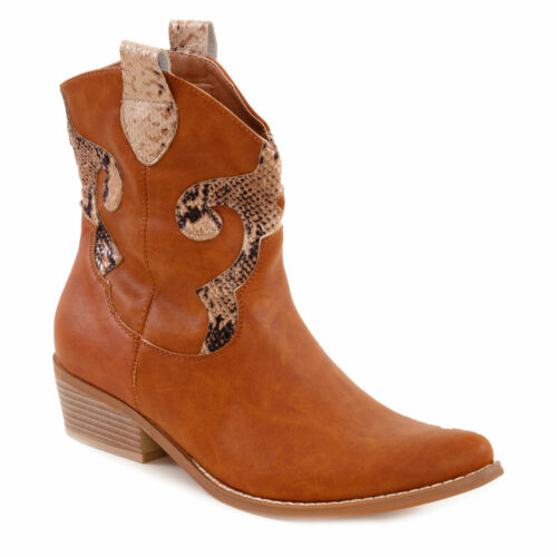 Scarpe donna stivali stivaletti texani camperos western primavera TOOCOOL J19-25