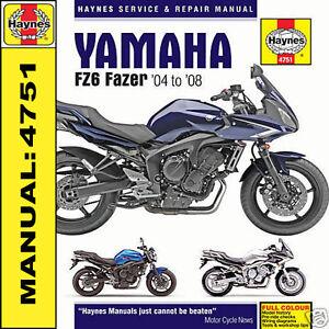 haynes yamaha fz6 fazer 04 08 workshop manual 4751 new 5054418102707 rh ebay co uk yamaha fzs service manual pdf yamaha fzs service manual pdf