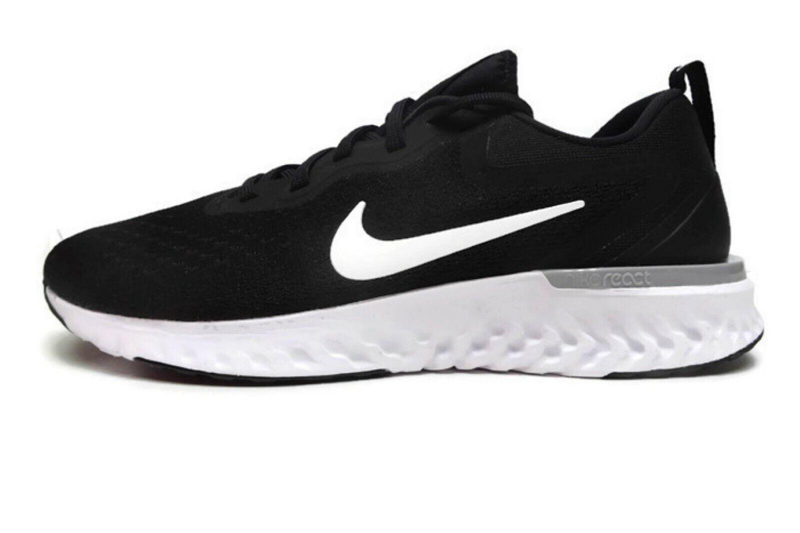 Nike Womens Odyssey React Running shoes Black White Wolf Grey 9