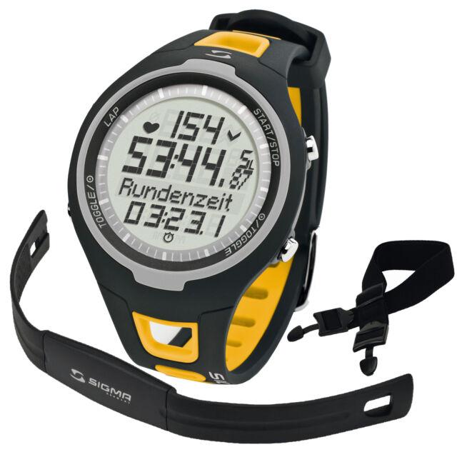 SIGMA PC 15.11 Pulsómetro Amarillo incluye banda torácica Señal Analógica