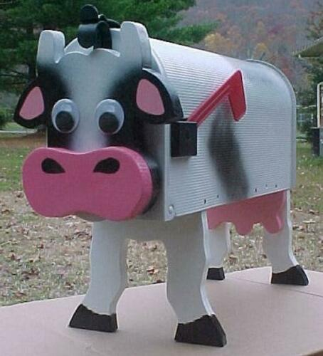 Cow Mailbox Custom Rustic Mailboxes Postal Mail Box Lodge Log Cabin Cattle Cows