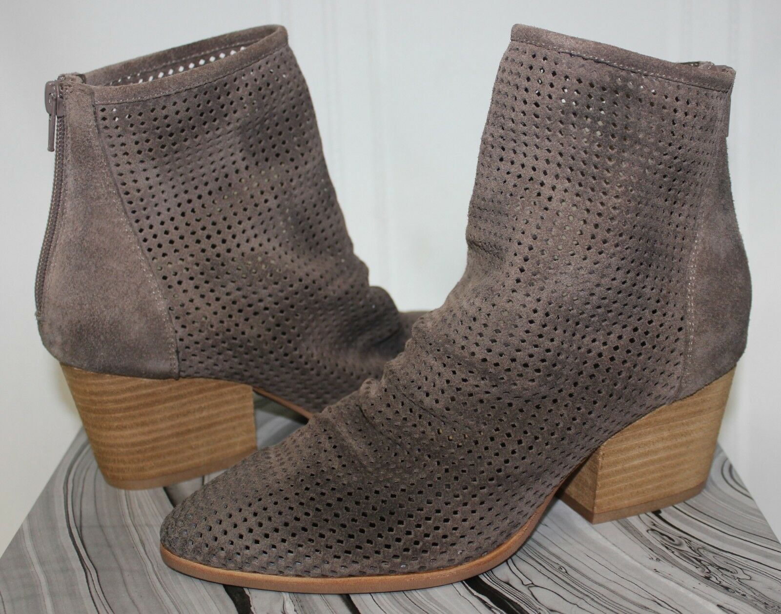 Jeffrey Campbell Jenelle Boot Perfed taupe suede NEW