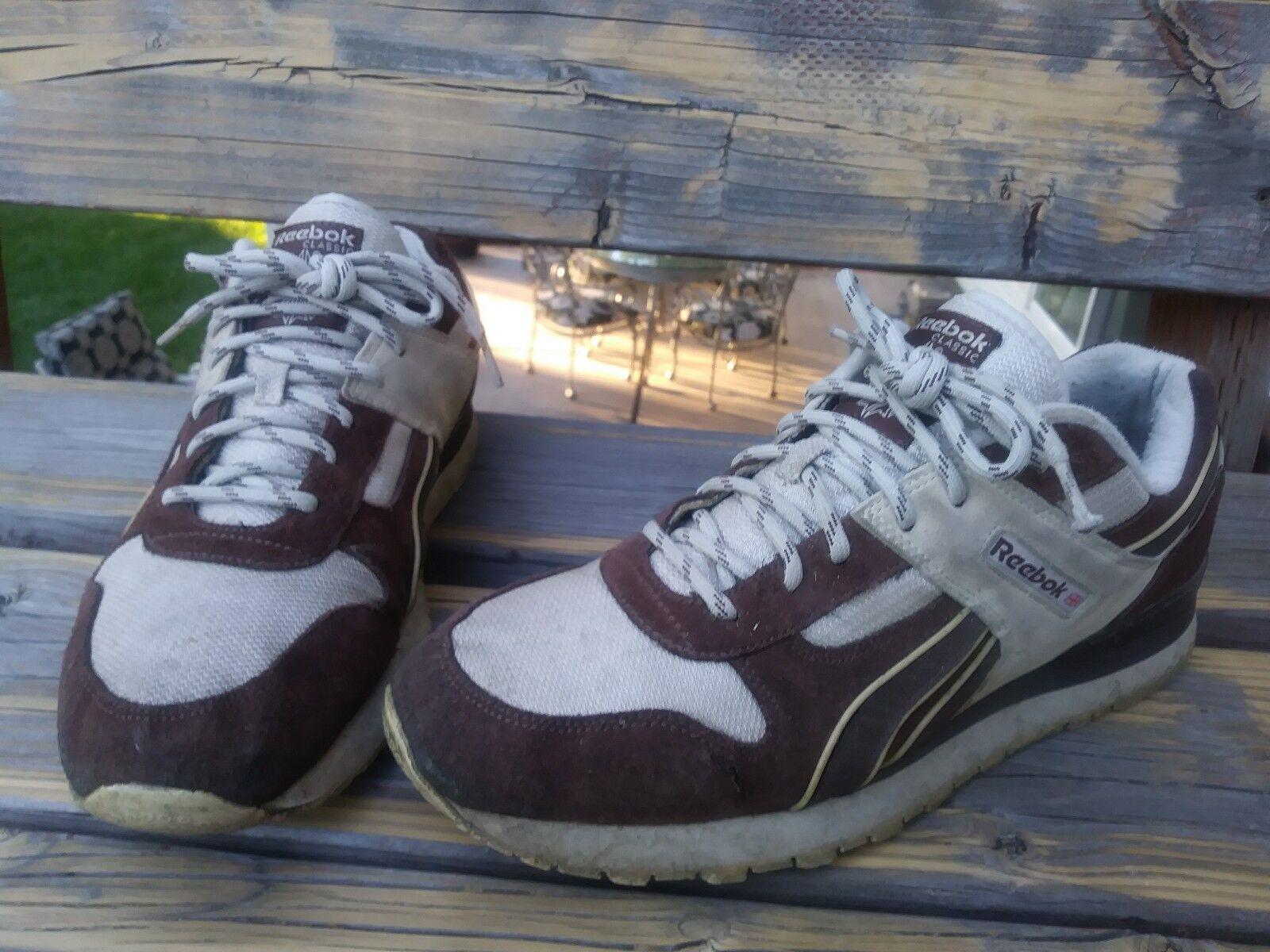 1ec8370043726 Reebok Classic Classic Classic brown mens Size 12 vintage FREE SHIPPING  PUMP QUESTION f87e8a