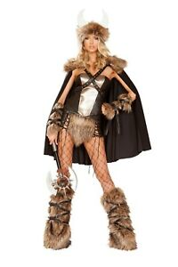 Sexy-Women-039-s-Viking-Costume-Viking-Warrior-Cosplay-Halloween-Show-Costume