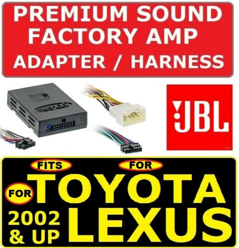 FOR 02 /& UP TOYOTA /& LEXUS CAR STEREO RADIO PREMIUM SOUND AMP ADAPTER JBL