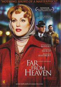 Promotional-Movie-Sheet-FAR-FROM-HEAVEN-2002-Julianne-Moore-Dennis-Quaid