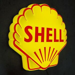 SHELL CLAM 3D LED LIGHT BOX ADVERTISING SIGN GARAGE PETROL GASOLINE GAS & OIL