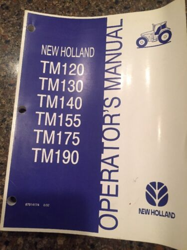 "New Holland /""TM/"" Family Operator/'s Manual"