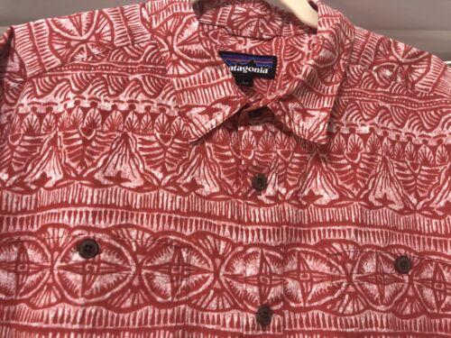 Patagonia Pataloha Mens Hawaiian Shirt Large Red S