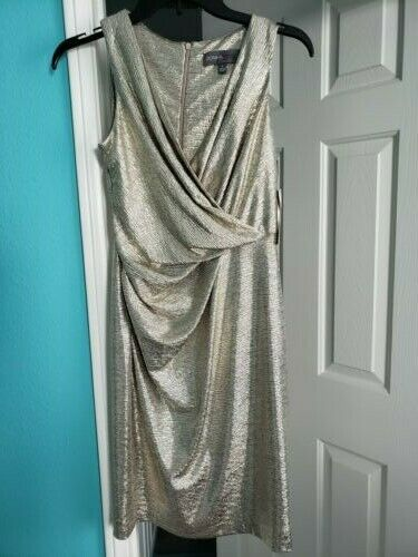 women Ricco - New Metallic gold Party Dress Size 0