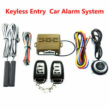 8XCar Safety Alarm Start System Smart Keyless Entry Ignition Push Button Starter