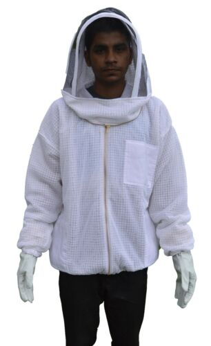 2XL Ventilated Bee Jacket Body comfort 3 layer mesh vented beekeeper jacket