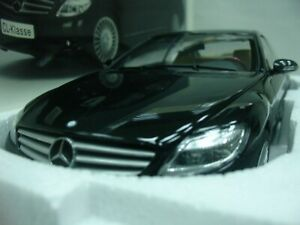Wow extrêmement rare Mecedes Cl600 V12 Biturbo 517hp Cp 2007 Noir 1:18 Auto Art-