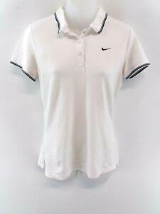 Haut-femme-NIKE-Polo-Shirt-M-Medium-coton-blanc-Dri-Fit