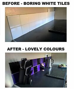 Image Is Loading Black Amp Purple Stickers Transfers For Kitchen Bathroom