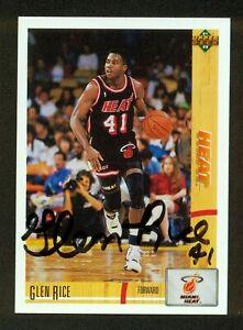 1991 Upper Deck #147 GLEN RICE, Heat: Black Sharpie Autograph 150273