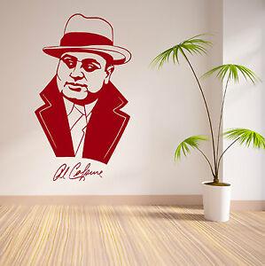 Al-Capone-American-Ganster-EEUU-Vinilo-Adhesivo-mural
