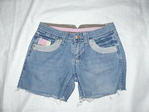 ladies-girls-summer-short-blue-cotton-denim-amp-co-size-8
