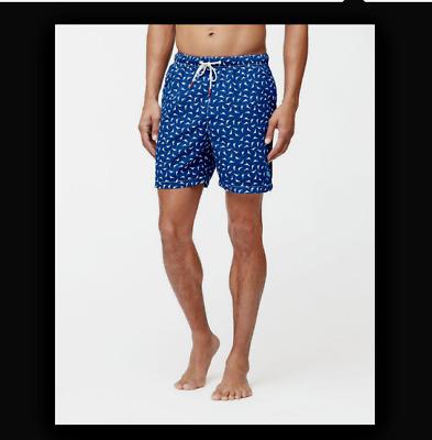 New TOMMY BAHAMA Game Set Thatch Maritime Blue swim trunks Medium or XL
