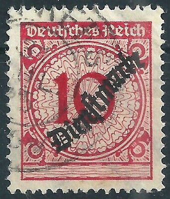 """Intellektuell Dienst Minr Briefmarken Deutsches Reich 101pa Gestempelt Mit Handbuchplattenfehler """"pe3"""""""