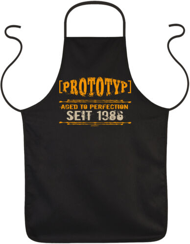 Geschenk zum 33.Geburtstag Grillschürze 1986 Kochschürze coole Sprüche 33 Jahre