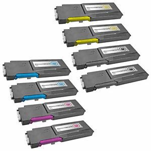 8PK-C3760-BLACK-COLOR-Extra-HY-Toner-Cartridge-Set-for-Dell-C3760dn-C3760n-C3765