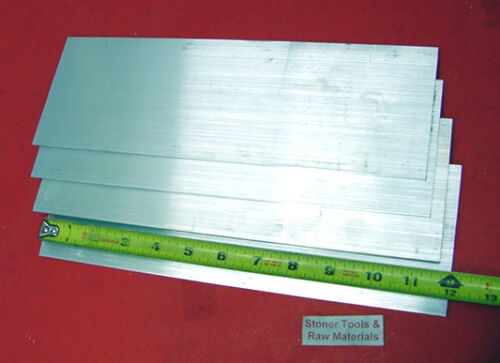 "4 Pieces 1//8/"" X 4/"" ALUMINUM FLAT BAR 12/"" long 6061 T6511 .125/"" New Mill Stock"