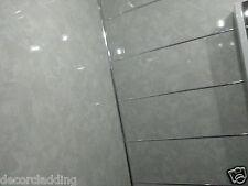 Astonishing 8 Light Grey Marble Effect Pvc Bathroom Cladding Wall Panels Bathrooms Showers Home Interior And Landscaping Ymoonbapapsignezvosmurscom
