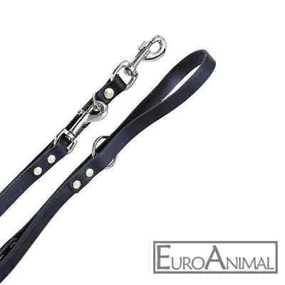 Hunde-Führleine Hunde-Leine Mexica Leder-Leine; Länge 200cm, natur oder schwarz
