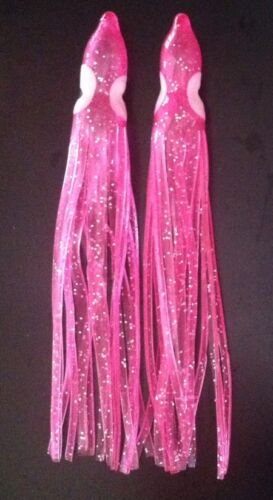 """Combine Shipping! 10 per pack 3.5/"""" Hoochie King Squid Skirts UV or Glow"""