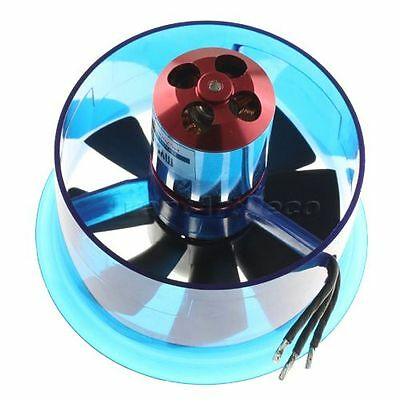 70mm EDF Power Ducted Fan with HL7008 3900 KV Brushless Motor for Helicopter Jet