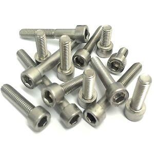 M8 X 20mm Tornillos De Tapa De Enchufe Llave Allen Tornillos DIN 912 Paquete de 5 10 20 30 50 métrica