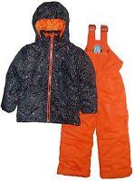 New Pulse Little Girls 4/5 6/6X 7 S M L Snowsuit 2 Pc Ski Jacket Snow Pants blk