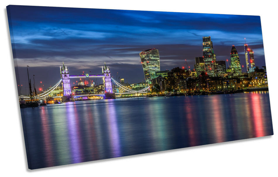 Città Skyline londinese TAMIGI TAMIGI TAMIGI Tela Art Print Panoramica foto fdbfa5