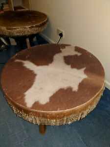 African Drum Coffee Table.Details About Two Genuine Vintage African Drum Coffee Tables One Or Both Available
