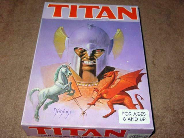 Avalon Hill 1982-Titan-el monstruo slugathon warJuego (ENLOMADOR) Como Nuevo