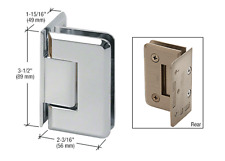 CRL Brass Trianon 044 Series Wall Mount Offset Back Plate Hinge