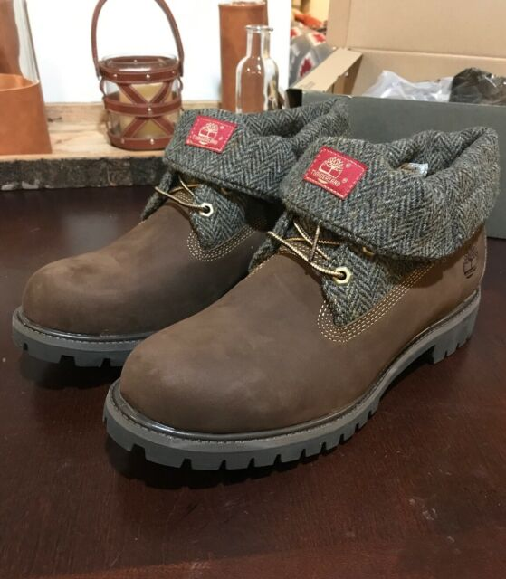 Timberland AF Roll Top Leather Woolrich Wheat Lace Up Mens Boots 6924R B23B