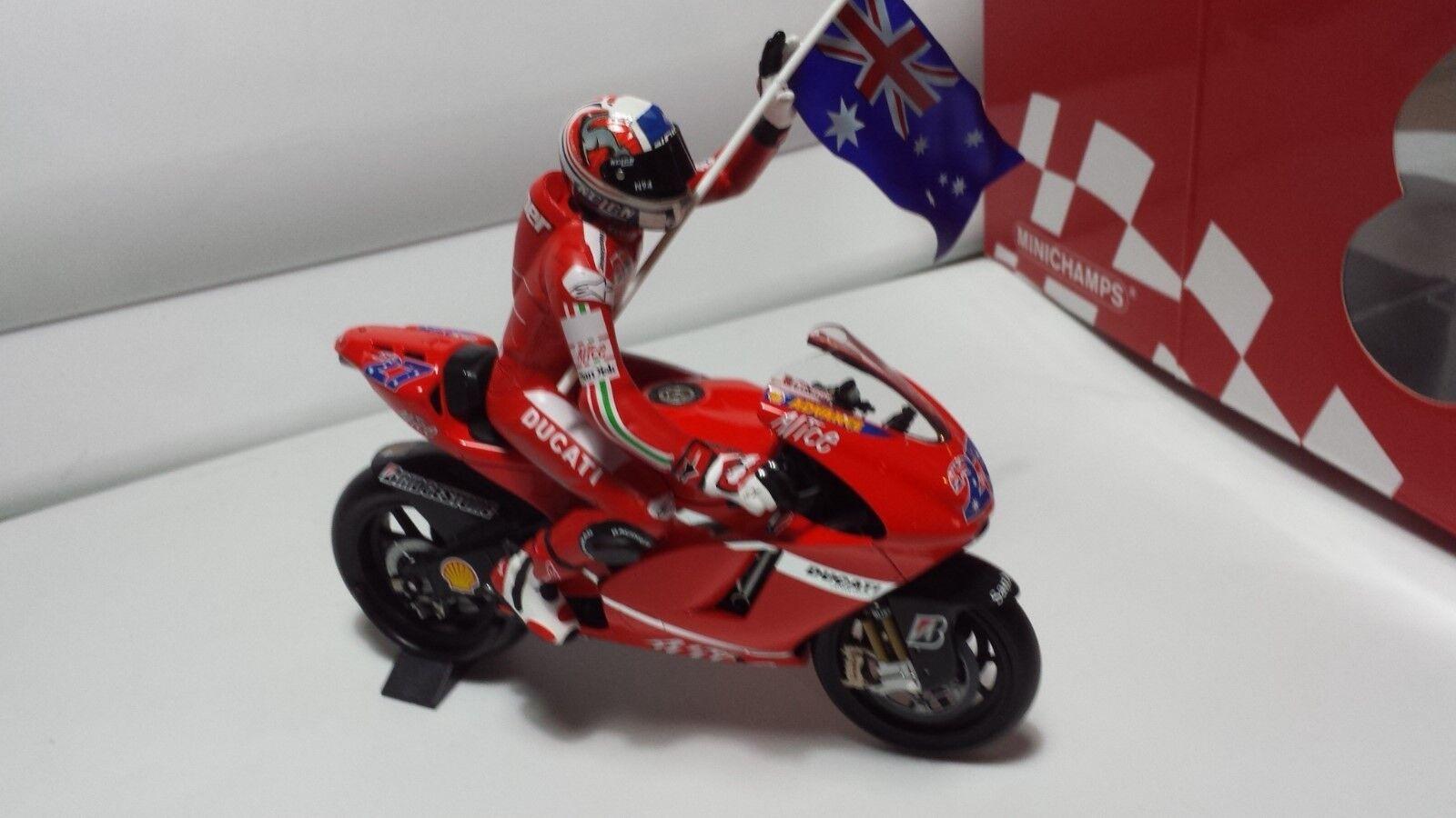 Casey Stoner. DUCATI Desmosedici MotoGP 2007 Australia. Minichamps 1 12