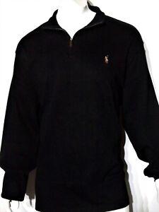Polo-Ralph-Lauren-size-xxl-men-039-s-estate-rib-mock-neck-pullover-sweater-black