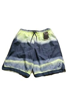 Nike-L-Swimwear-Mens-Yellow-Green-Gray-Swim-Trunks-Shorts-Size-Large-NWT