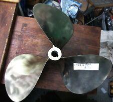 3-Blade NIBRAL Brass Bronze Boat Propeller Right Hand 19 X 24