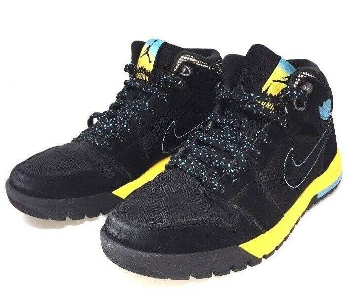 Sample Nike Air Jordan 1 Trek Sz Blue 9 Black Yellow Gamma Blue Sz B5 94ff2e