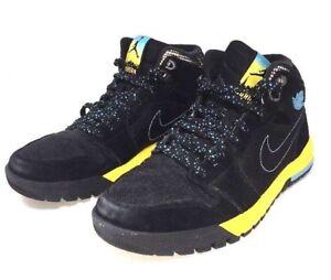 cheap for discount ca2a0 5c3ce Details about Sample Nike Air Jordan 1 Trek Sz 9 Black Yellow Gamma Blue B5
