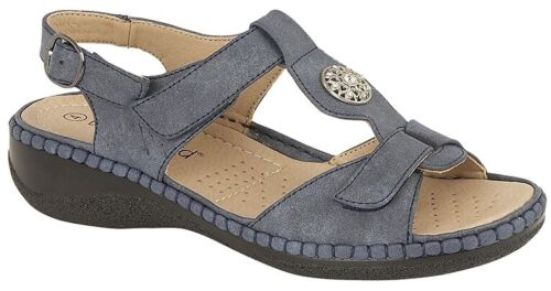 Black Taupe Navy Grey LADIES HALTER BACK Adjustable Sandals Size 3 4 5 6 7 8